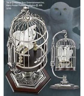Escultura Hedwig miniatura en jaula Harry Potter