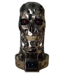 Busto Terminator T-800 Battle Damaged con LEDs Escala 1:1