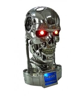 Busto Terminator T-800 Battle Damaged con LEDs Escala 1:2