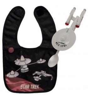 Babero y Cuchara Enterprise NCC-1701 Star Trek con Luz