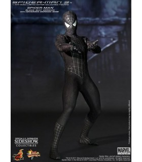 Figura Spiderman 3 Black Suit Masterpiece Escala 1:6