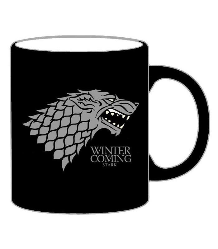 """Taza Juego de Tronos Mug """"Stark"""" (Negra)"""