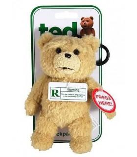 Mini Peluche Ted con Voz en Inglés Réplica Tamaño 15 cm