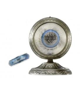 Anillo Único Giratorio Acero Azul El Señor de los Anillos
