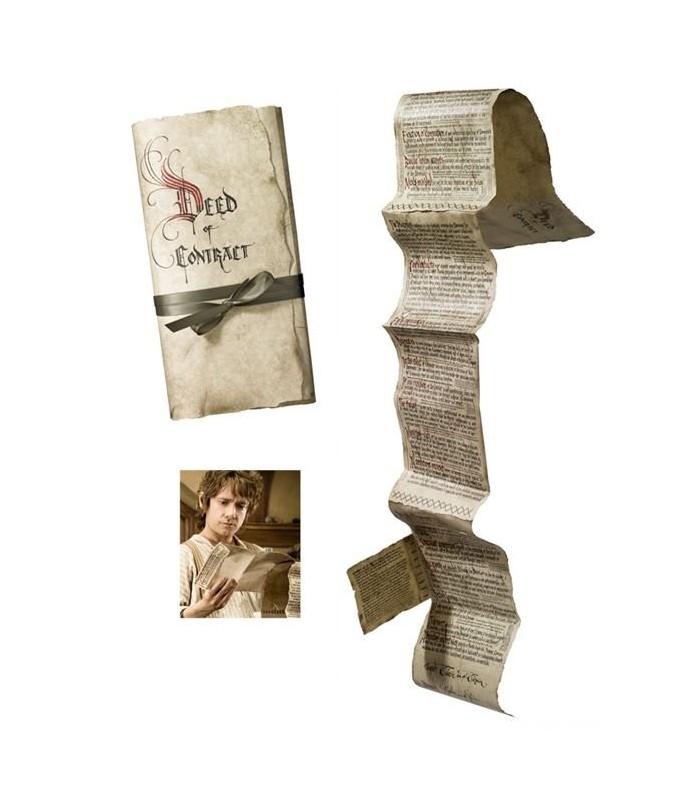 Contrato Bilbo Bolsón El Hobbit: Un Viaje Inesperado Réplica 1:1