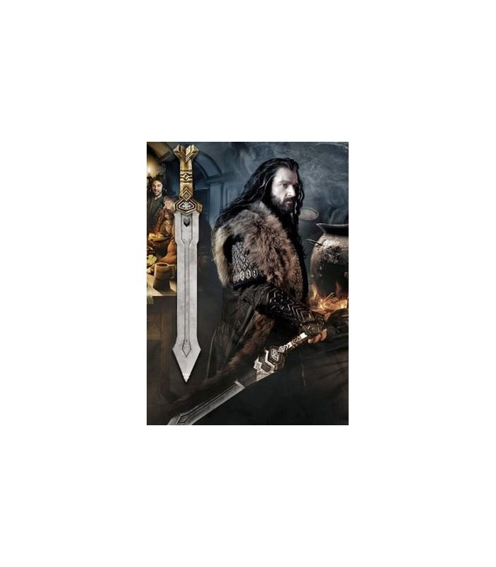 Espada Dwarven de Thorin Escudo de Roble El Hobbit: Un Viaje…