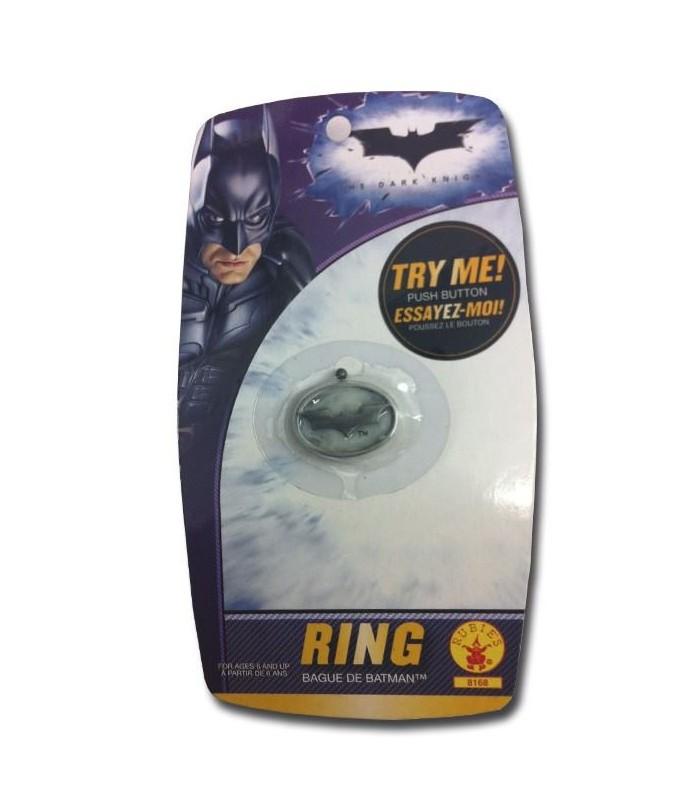 Anillo Batman Bat-Señal El Caballero Oscuro con Luz