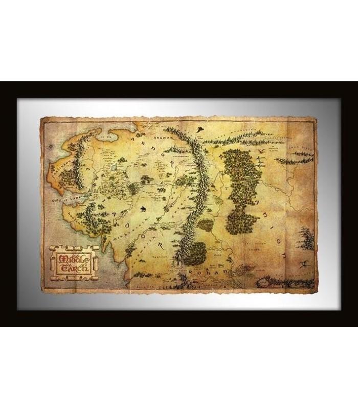 Espejo Mapa Tierra Media El Hobbit
