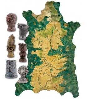 Mapa Poniente Westeros de Robb Stark Juego de Tronos Réplica 1:1