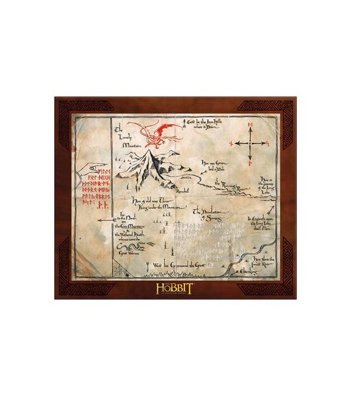 Mapa de Erebor Thorin Oakenshield El Hobbit: Un Viaje Inesperado