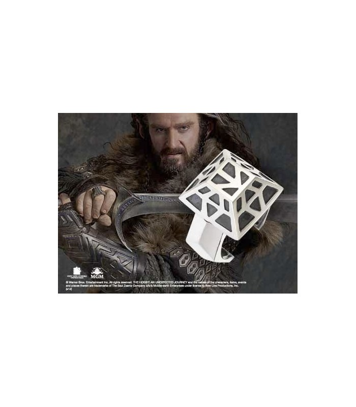Anillo de Thorin Escudo de Roble en Plata El Hobbit: Un Viaje...