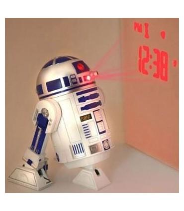 Despertador R2-D2 con Proyector y Sonido Star Wars