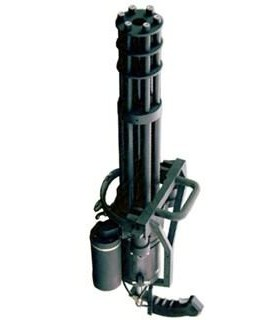 """La Impaciente"" M134 Vulcan Airsoft Minigun Réplica tipo Gatling"