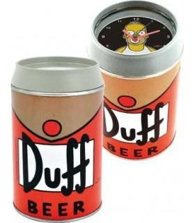Reloj despertador Los Simpson con forma de lata de cerveza Duff