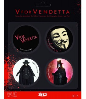 Set de chapas V de Vendetta B