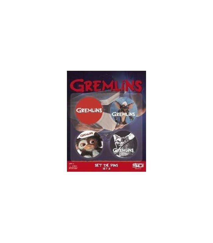 Pack 4 Chapas Set B Gremlins