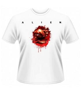 Camiseta blanca revientapechos (chestburster) Alien