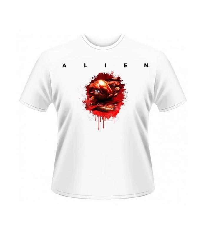 Camiseta blanca revientapechos (chestbuster) Alien
