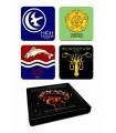 Juego de Tronos set de 4 posavasos Emblemas de las Casas