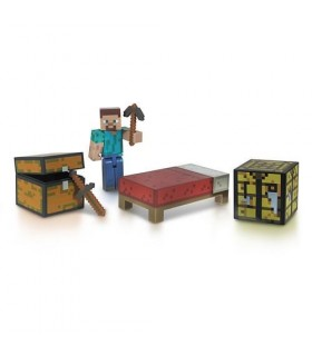 Figura Core Player Steve Survival Pack Minecraft 8 cm
