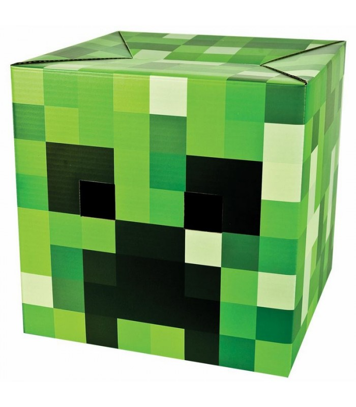 Cabeza de Creeper Minecraft