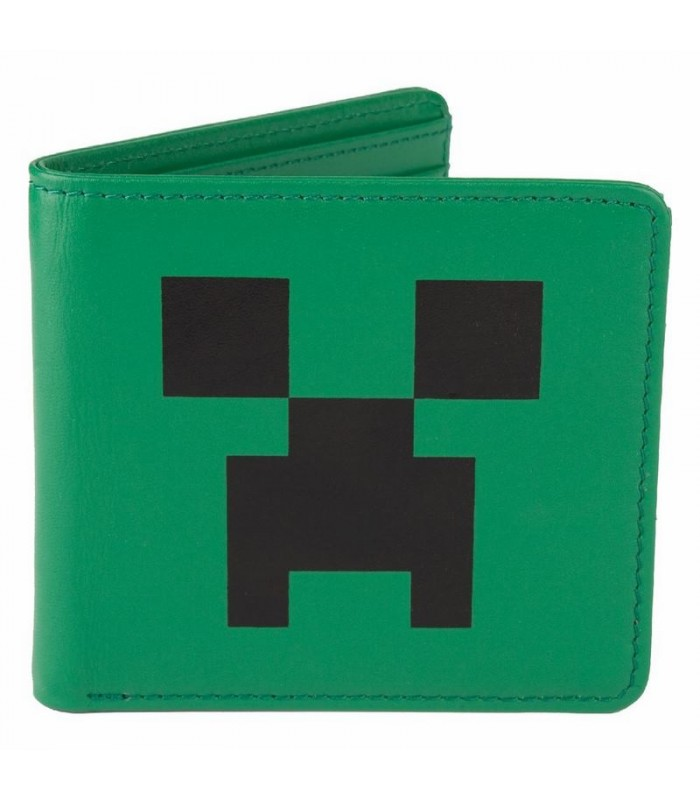 Monedero de Cuero Creeper Face Minecraft