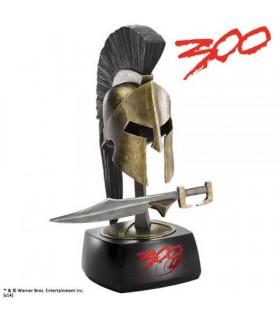 Casco y espada miniatura del Rey Leónidas