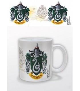 Taza (Mug) Slytherin - Blanca