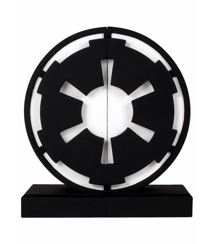 Soporte de libros Sujetalibros emblema imperial Star Wars