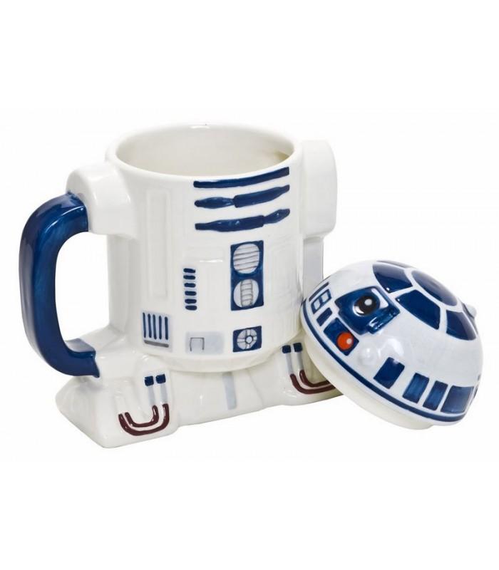Taza con tapa R2-D2