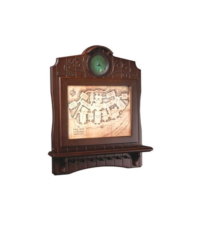 Llavero de pared en madera Mapa de Bag End - El Hobbit