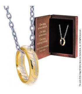 Anillo Único de Poder (con Cadena Plateada, Oro sobre Plata 925)
