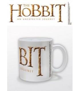 Taza blanca logo El Hobbit