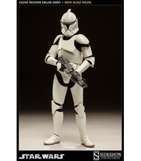 Figura Shiny Clone Trooper 30 cm. escala 1:6 de SideShow Collectibles