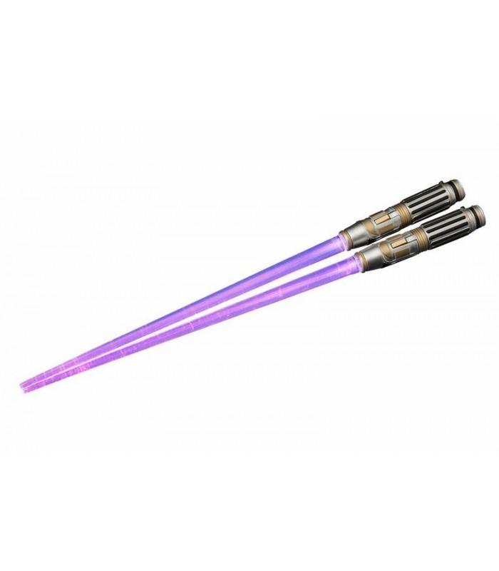 Palillos Chinos Sable de Luz Windu con luz - Star Wars