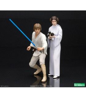 Pack de 2 figuras ARTFX+ Luke y Leia - Star Wars