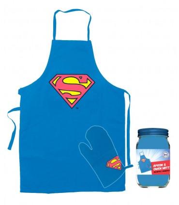 Delantal con manopla Superman