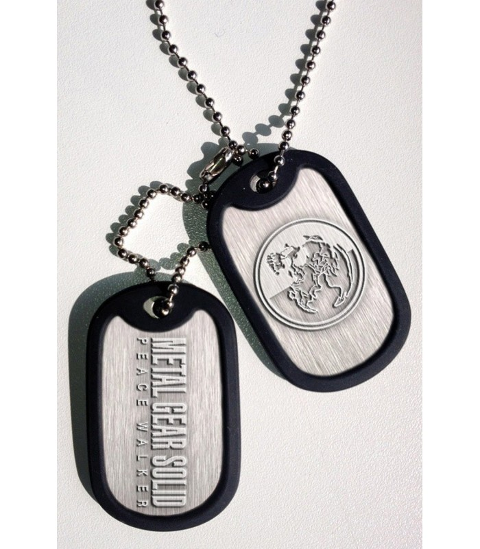 Chapas de identificación con cadena Peace Walker - Metal Gear