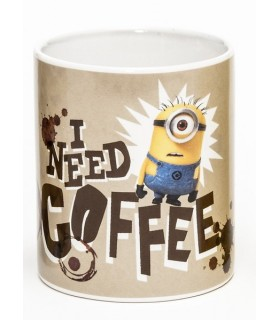 Taza I need Coffee - Los Minions