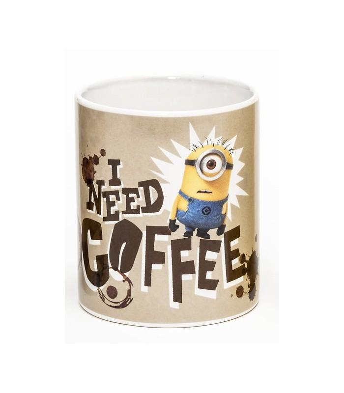 Taza I need Coffee - Los Minions