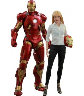 Pack de 2 figuras Iron Man y Pepper Potts Movie Masterpiece - Iron Man