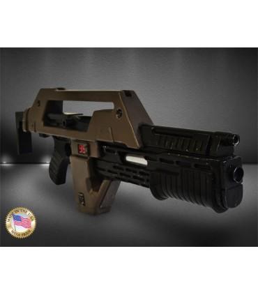 Rifle de pulsos marrón con signos de uso - Aliens