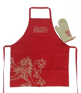 Delantal de cocina con manopla Lannister - Juego de Tronos