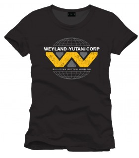 Camiseta negra Weyland-Yutani Corp - Alien