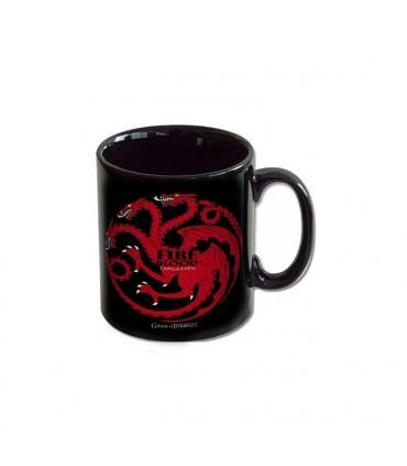"""Taza Juego de Tronos Mug """"Targaryen"""" (Negra)"""