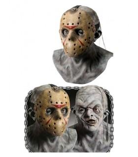 Máscara de látex de Jason Voorhees con máscara de hockey - Viernes 13