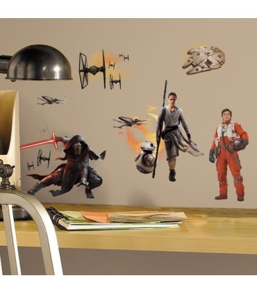 Kit de pegatinas de pared personajes Episodio VII - Star Wars