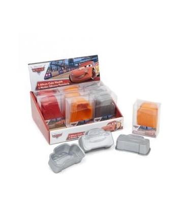 Set de tres moldes  pequeños Rayo McQueen - Cars
