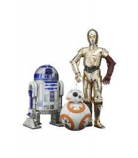 Pack de 3 figuras en escala 1/10 C-3PO & R2-D2 & BB-8 - Star Wars Episodio VII