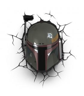 Lámpara Boba Fett 3D - Star Wars